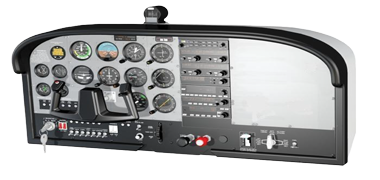 Simulated Cockpit Panel for Cessna 172 Model SIP-C172